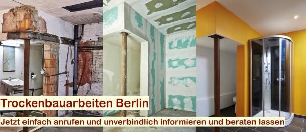 Trockenbau Decke abhängen Berlin - Trockenbauarbeiten